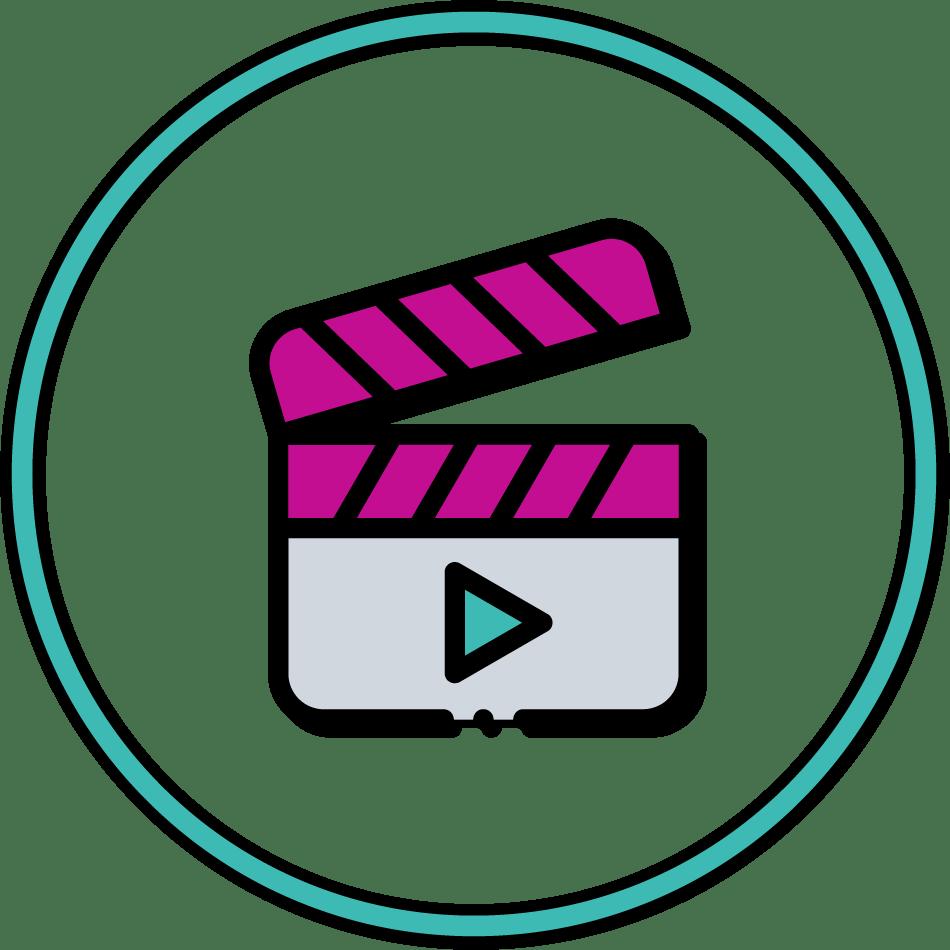 icon audiovisual
